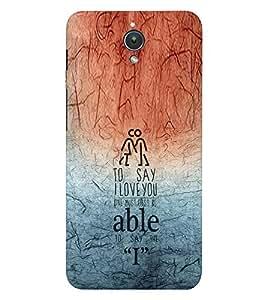 EPICCASE able to say I Mobile Back Case Cover For Asus ZenFone C (Designer Case)