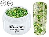 5ML - PRIME LINE - UV LED GEL CRISP Effekt GREEN Glitzer Farbgel Color NailArt Modellage Nagel Grün - MADE IN GERMANY