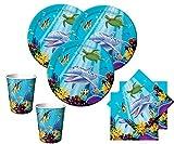 48 Teile Ozean Party Deko Set für 16 Kinder