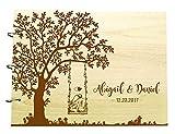 Livre de noel de mariage personnalisé gravé sur bois personnalisé noel et marié nom scrapbook cadeau