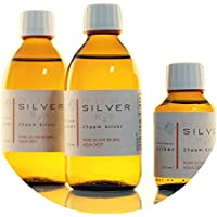 Preisvergleich für PureSilverH2O 600ml Kolloidales Silber (2X 250ml/25ppm) + Flasche (100ml/25ppm) Reinheit & Qualität seit 2012