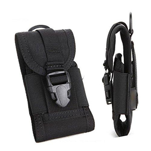 Beliebt Mini Tasche Multifunktion Handy Paket Außen Taille Hängetasche Schwarz (Taille Mini)