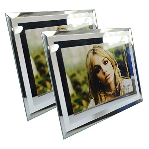 Giftgarden Cadre Photo Cadre en Verre Transparent en Paysage ou Portrait 9x13 CM lot de 2