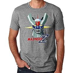 35mm - Camiseta Hombre Mazinger Z Ref 2-, Gris, L