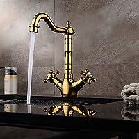 BC Centerset contemporanea / Modern diffusa con valvola in ceramica monocomando monoforo per Ti-PVD, lavandino rubinetto del
