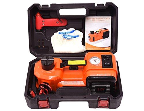 YASI MFG® Elektrischer Hydraulischer Wagenheber Hydraulikheber 3.5T 15.5-45cm SUV und Auto