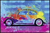 Close Up Splash Buggy Beetle Poster Parker Greenfield (62x93 cm) gerahmt in: Rahmen Schwarz