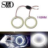 S & D 2x 60mm HID Weiß 45COB Auto LED Angel Eyes Halo Ring für DRL TFL Tagfahrlicht Scheinwerfer Nebel Gehäuse Lampe–12V