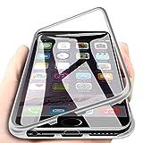 WindCase iPhone 6 Funda, iPhone 6s Funda, Anti-rasguño Metal Aluminio Bumper con Magnética + Transparentee Vidrio Templado Rígida Cubierta Protectora Carcasa para iPhone 6 / 6s 4.7' Plata