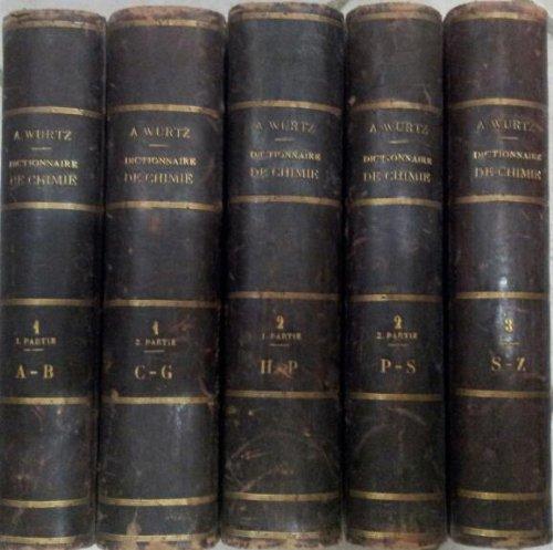 Dictionnaire de chimie pure at appliquée comprenant: la chimie organique et inorganique, la chimie appliquée à l'industrie, a l'agriculture et aux arts , la chimie analytique, la chimie physique et la mineralogie /complet en 7 volumes