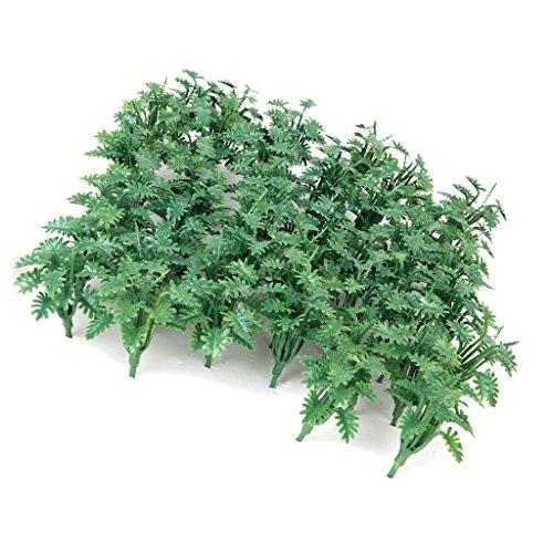 50 Stk. grüne Landschaftsmodell Bodendecker Gras mit zerkleinerte Blätter (Gras-gelände)