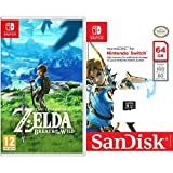 The Legend Of Zelda: Breath Of The Wild + SanDisk - Tarjeta microSDXC de 64 GB para Nintendo Switch