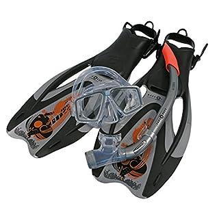 Aqua Lung Sport Proflex Pro ADJ Maske/Schnorchel und Fin Set M Silber/Orange