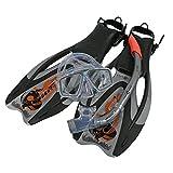 Aqua Lung Sport Proflex Pro ADJ Maske/Schnorchel und Fin Set S Silber / Orange