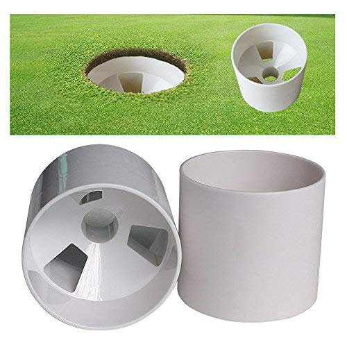 Golftrainingstasse mit Löchern, zum Einlochen auf dem Grün, 10,2 cm, 2 Stück