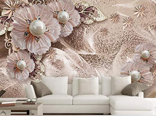 3D Wallpaper Wandbild Benutzerdefinierte Große Wandbild Exquisite Luxus Modeschmuck Blumen Wohnkultur Wohnzimmer Tv Hintergrundbild, 430 Cm X 300 Cm