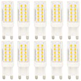 10er Pack G9 Dimmbar LED Lampen, 44 SMD 2835 ,Warmweiß, 5W als Ersatz für 30W Halogenlampe,2900K-3200K, 360° Abstrahlwinkel,AC 200-240V