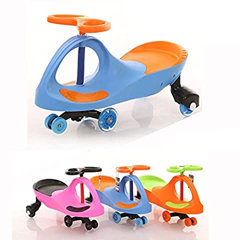 Fascol Kids Swing Car Ride On Swivel Scooter Flash Wheel Indoor / Outdoor Wiggle Gyro Twist & Go Childrens Ride On Car
