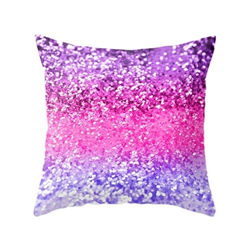MYLL Funda de cojín de lentejuelas multicolor para decoración del hogar 1 x 45 x 45 cm, poliéster...