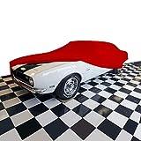 Car Cover Compatibile con Alfa Romeo Polvere e Resistente ai Graffi Abbigliamento Auto Coperto Garage Car Exhibition Completa Car Cover Stretch Panno (Nero, Rosso) (Color : Red, Size : Alfa Mito)
