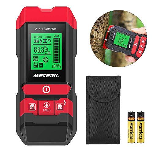Detector de construcción digital Detector Meterk 2 en 1 Pernos de materiales eléctricos Detección...