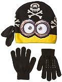Beanie W/Handschuh Set–Despicable Me–Minions schwarz Face Kinder 109886