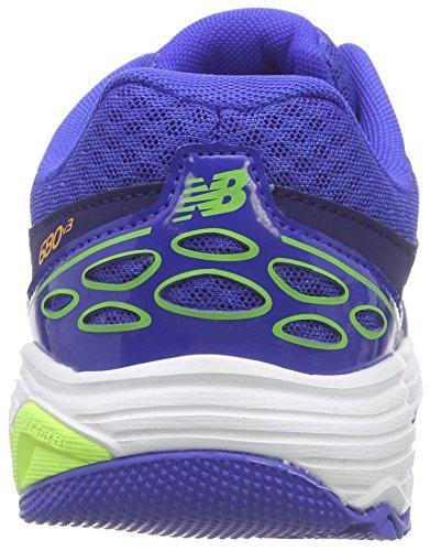New Balance - 680v3, Scarpe da ginnastica Unisex  Bambini Multicolore (Mehrfarbig (Blue/White/Green))