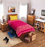 SPACES Allure Red Cotton Single Bed shee...