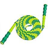 Queta Springseil, Seilspringen für Kinder und Erwachsene Kunststoff Perlen Segmentierung Springseil 2.7m Silikongriff Kinder Springen Seil mit Tragetasche