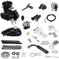 Sange 80cc 2-Stroke Pedal Cycle Gas Motor de conversión de gasolina Kit Refrigeración de aire Motorized Engine Kit para Motorized Bike Black