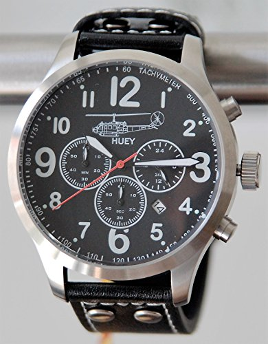 Bell UH-1 Huey Aviator Chrono Armbanduhr inklusive Samt-Geschenkbox - Sonderedition