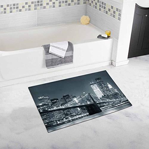 k City Brooklyn Bridge mit Downtown Skyline Haus Dekor rutschfeste Bad Teppich Matte saugfähigen Badezimmer Bodenmatte Fußmatte ()