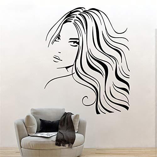 yiyiyaya Mode schönheit Frau wandkunst Aufkleber wandaufkleber PVC Material DIY Kunst für Wohnzimmer Sofa Hintergrund Dekoration accessorise weiß m 30 cm x 37 cm