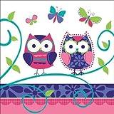 16 Servietten * EULEN * für Party und Geburtstag // Eule Owl Kindergeburtstag Papierservietten Napkins
