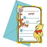 Disney Winnie the Pooh Party Einladungen, 6Stück