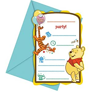 Disney Winnie The Pooh Party Invitations, Pack of 6