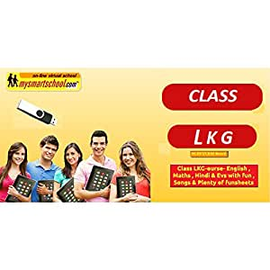 Class LKG-CBSE/NCERT .USB Pen Drive Course- Engilsh,Maths,Hindi & Evs.with FUN ,Songs & Plenty of FUNSHEETS.All/each Lessons are Interactive Multimedia with multiple Questions on the Basis of CBSE Evaluation Blue_Print