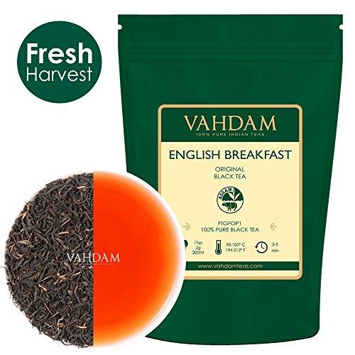 Original English Breakfast Tea (200+ Tassen) Schwarzer Tee, Loser Tee | Stark, Reich & Flavoury, Schwarztee, FTGFOP1, 100% Pure Black Tea, Verpackt Bei Source in India, Englisches Frühstück, 454g