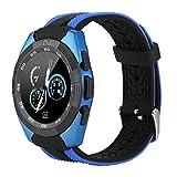 Naroote Microwear Music Smart Watch, Musik, die Bluetooth-Uhr spielt(Blau)