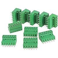 Yibuy - 10 Conectores de Bloque de terminales de 6 Pines con ángulo Recto