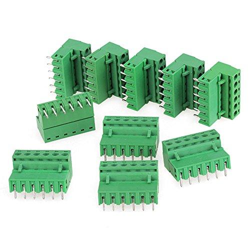 cnbtr Verde 6pin 2edg vite terminale del connettore di blocco 5mm Passo per apparecchiature elettroniche Set di 10