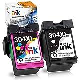 Starink Druckerpatrone Remanufactured Kompatibel für HP 304XL 304 XL für HP Deskjet 2620 2630 2632 2633 2634 3700 3720 3730 3732 3733 3735 HP Envy 5020 5030 5032 Drucker (Schwarz + Farbe)