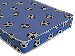 eXtreme Comfort UK ltd 3ft Luxury Blue Football Mattress Standard Single Bed Size For Boys or Girls 90cm by 190cm, 3ft by 6ft3