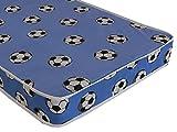 "The eXtreme Comfort Basic Entry Level Budget Spring Mattress 6"" Deep Ideal Kids Economy Mattress, Bunk Bed Mattress (3ft Standard UK Single, Blue Football)"