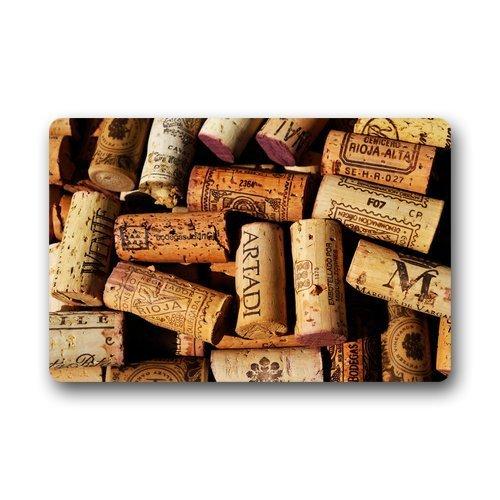 Doormat No.01 Custom Waschmaschine gewaschen Fußmatte Wein-Korken Decor Teppich Fußmatte 30(L) X 18(W) Zoll