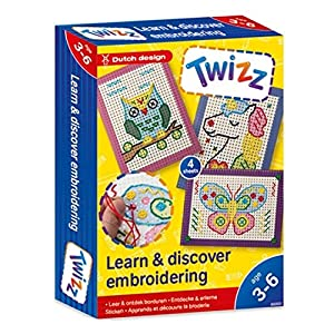 Twizz 66002 Entdecke & erlerne Sticken, Mehrfarbig