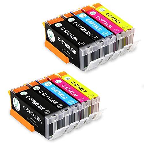 Gootior PGI-570XL CLI-571XL Cartucce d'inchiostro, Compatibile per Canon Pixma MG5750 TS5050 MG5751 MG5753 MG6850 MG6851 MG6852 TS5051 TS5053 TS5055 TS6050 TS6051 Stampante (2PGBK, 2BK, 2C, 2M, 2Y)