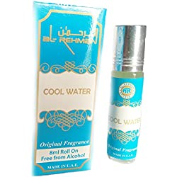 Al-Rehman Brothers Non Alcoholic Cool Water Original Roll On Perfumes ( Attar 8 ml)