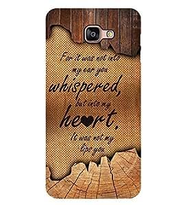 Fuson Love Quote Designer Back Case Cover for Samsung Galaxy A9 (2016) :: Samsung Galaxy A9 Pro (2016) (Love Quotes Inspiration Emotion Care Fun Funny)
