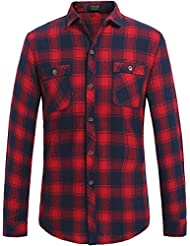 SSLR Chemise Casual Manches longues Vichy - Homme